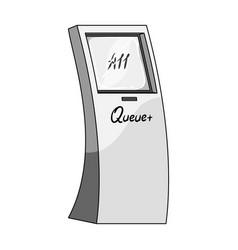 queue access terminal terminals single icon in vector image