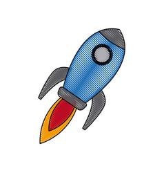 rocket startup business creativity innovation vector image
