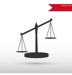 Scales of Justice Black icon and jpg Flat vector image