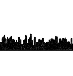seamless modern cityscape silhouette vector image