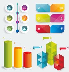 Set Infographic Design vector image