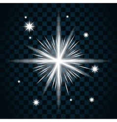 Shine star sparkle icon 16 vector image