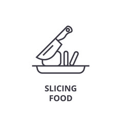 slicing food line icon outline sign linear vector image