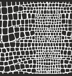 snake skin black and white texture vector image