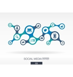 Social media Growth abstract background with vector