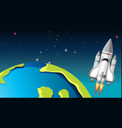 Space shuttle and vector