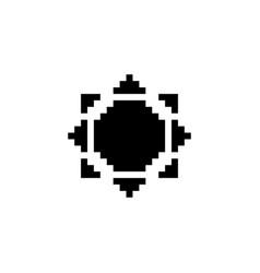 Sun pixel icon weather vector