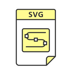 Svg file color icon scalable graphics image file vector