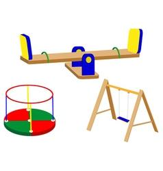 swing carrousel for children vector image