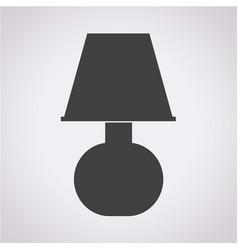 Table lamp icom vector