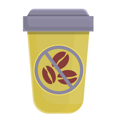 Take away coffee decaf icon cartoon style vector