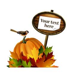 Thanksgiving autumn composition vector