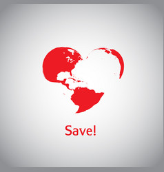 The heart world - save vector
