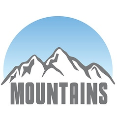 Tourism travel logo template abstract Mountains vector image