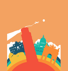 travel italy world landmark landscape vector image