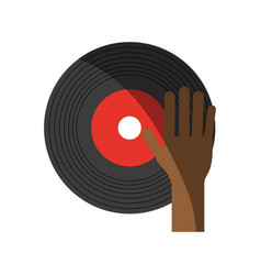 Turntable music hand vector