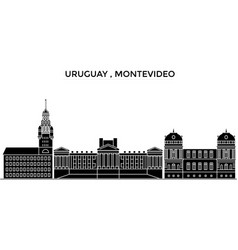 Uruguay montevideo architecture city vector