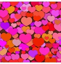 Valentine seamless fun hearts pattern different vector