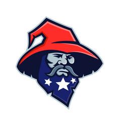 Warlock stars on beard mascot vector