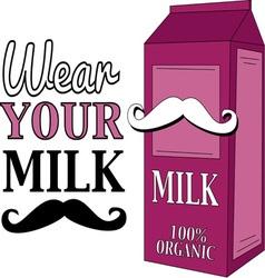 Wear Your Milk Mustache vector