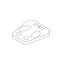 Weight scale icon isometric 3d style vector