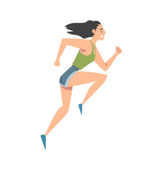young woman in sportswear running sports vector image