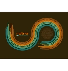 abstract retro disco background - vector image