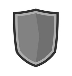 Military shield icon flat style vector