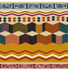 Abstract ethnic seamless texture vector image vector image