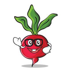 geek radish character cartoon collection vector image
