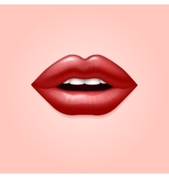 Glamour red woman seductive sexual lips 3d vector image vector image