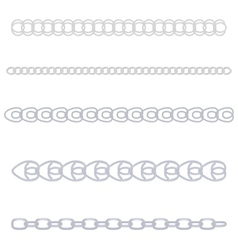 silver chain vector image vector image