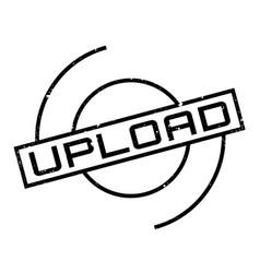 Upload rubber stamp vector
