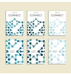 Abstract connect figure on brochure template vector
