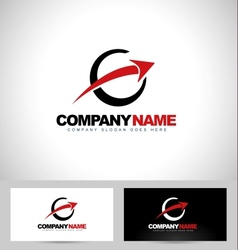 Arrow Logo Concept Design vector image