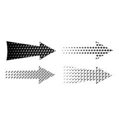 arrow set textured various symbols black arrows vector image