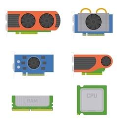 computer components vector image