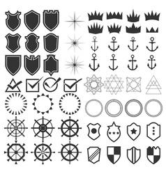 Retro design elements collection Set of vintage vector image