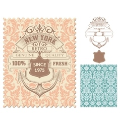 Retro stamp Nautical design vector image vector image