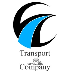 transportation company logo vector image vector image
