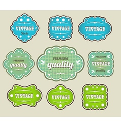vintage labels retro style set vector image vector image