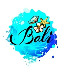 Welcome to Bali concept in vintage graphic style vector image vector image