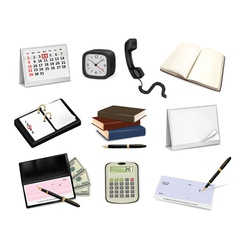 Big collection of office supplies vector image