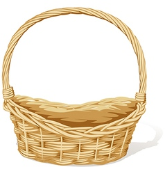 empty basket vector image vector image
