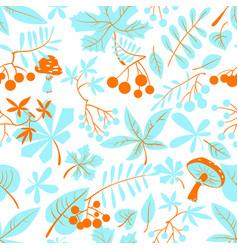 fall season floral seamless pattern autumn vector image vector image