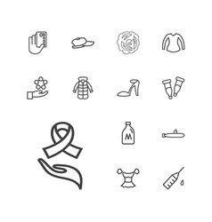 13 drawn icons vector