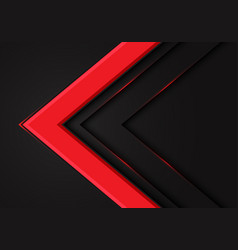 abstract red arrow direction on dark blank space vector image