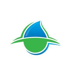 abstract waterdrop eco logo image vector image