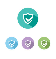 Active protection shield icon with shade on vector