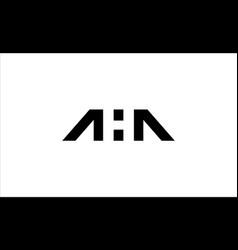 Aha initial logo design vector